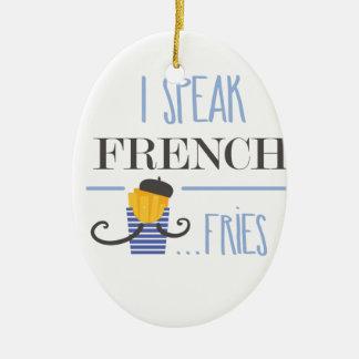 Ich spreche französisch… Fischrogen Keramik Ornament