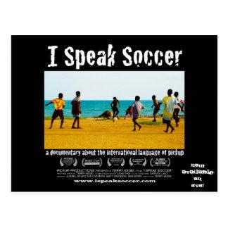 Ich spreche Freigabe-Postkarte des Fußball-DVD Postkarte