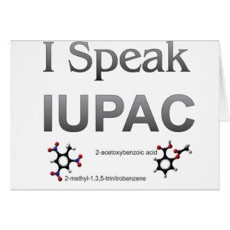 Ich spreche IUPAC Chemie-Nomenklatur Karte