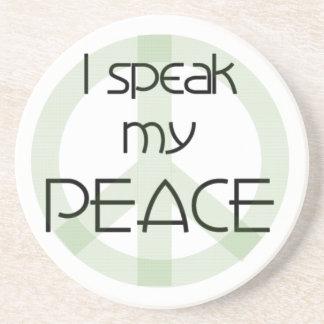 Ich spreche meine Friedenst-shirts und -geschenke Untersetzer
