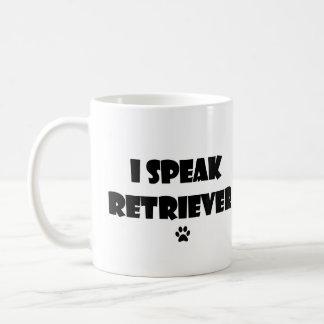 Ich spreche Retriever-Tasse Kaffeetasse