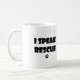 Ich spreche Rettungs-HundeTasse Kaffeetasse