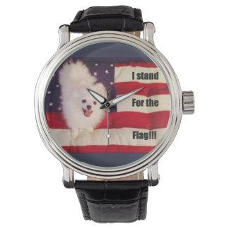 Ich stehe für die Flaggenuhr Uhr