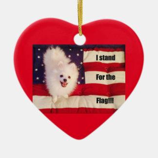 Ich stehe für die geformte Verzierung der Flagge Keramik Ornament