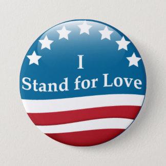 Ich stehe für Liebe USA-Knopf Runder Button 7,6 Cm