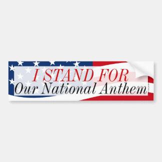 Ich stehe für unseren Nationalhymne Anti-Protest Autoaufkleber