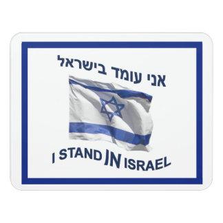 Ich stehe in Israel Türschild