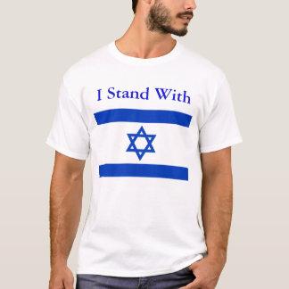 Ich stehe mit Israel-Shirt T-Shirt