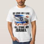 Ich stehe mit Israel T Shirts