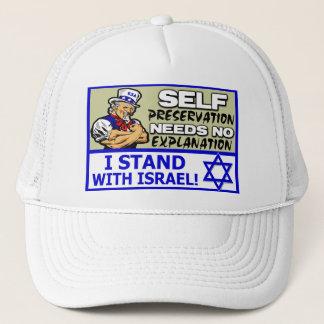 Ich stehe mit Israel! Truckerkappe