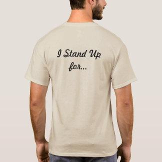 Ich stehe oben für… Lyrische Spitze T-Shirt