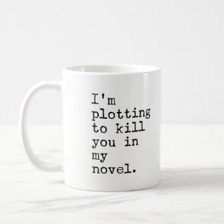Ich stelle grafisch dar, Sie in meinem Roman - Kaffeetasse