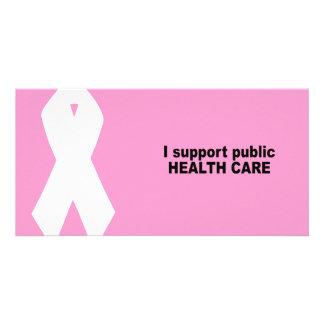 Ich stütze allgemeines Gesundheitswesen Photokarte