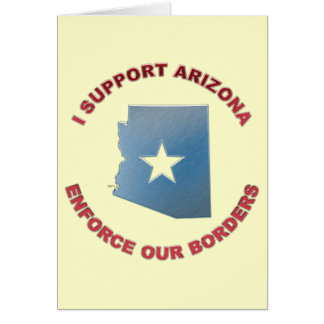Ich stütze Arizona Karte