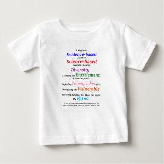 Ich stütze Diversity und Beweis basierte Baby T-shirt