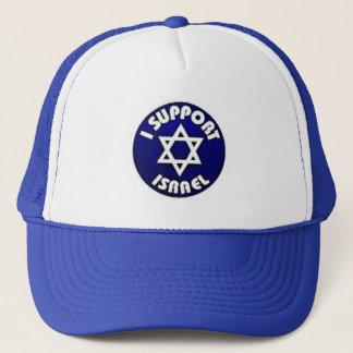 Ich stütze Israel - Davidsstern מגןדוד Truckerkappe