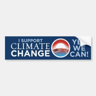 Ich stütze Klima-Änderung Obama ähnlichen Autoaufkleber