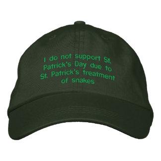 Ich stütze nicht St Patrick Tag wegen St. Patr Bestickte Baseballkappe