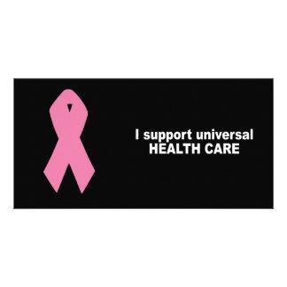 Ich stütze universelles Gesundheitswesen Photokartenvorlage