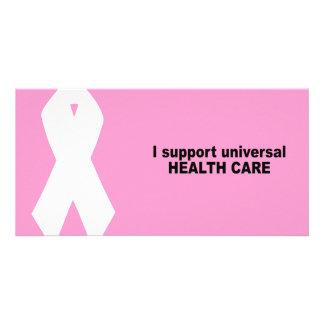 Ich stütze universelles Gesundheitswesen Individuelle Foto Karten
