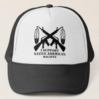 Ich stütze Ureinwohner-Rechte Truckerkappe