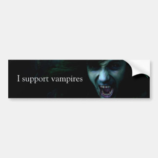 """""""Ich stütze Vampires"""" Autoaufkleber"""