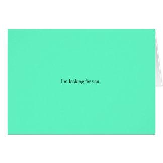 Ich suche Sie Karte