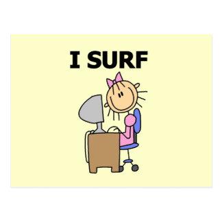 Ich surfe das Netz Postkarte