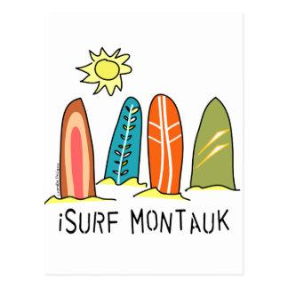 Ich surfe Montauk Postkarte
