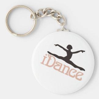 Ich tanze standard runder schlüsselanhänger