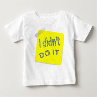 Ich tat es nicht baby t-shirt