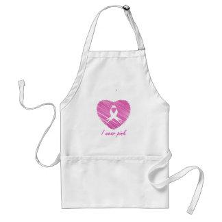 Ich trage Brustkrebs-Bewusstseinssymbol des Rosas Schürze