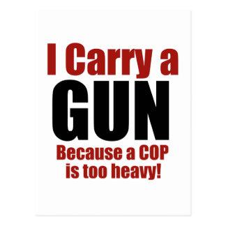 Ich trage ein Gewehr Postkarte