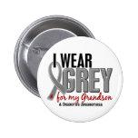 Ich trage Grau für meinen Diabetes des Enkel-10 Anstecknadelbuttons