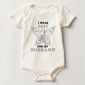 Ich trage Grau für meinen Ehemann Baby Strampler