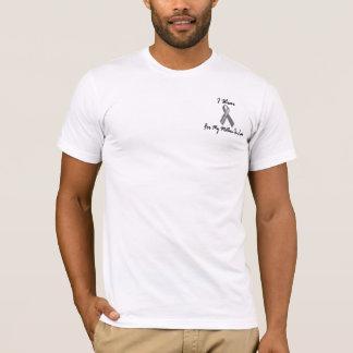 Ich trage Grau für meinen Hirntumor der T-Shirt
