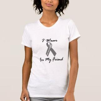 Ich trage Grau für meinen Hirntumor des Freund-1 T-Shirt