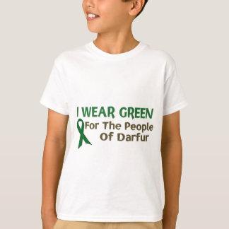 Ich trage Grün für die LEUTE VON DARFUR T-Shirt
