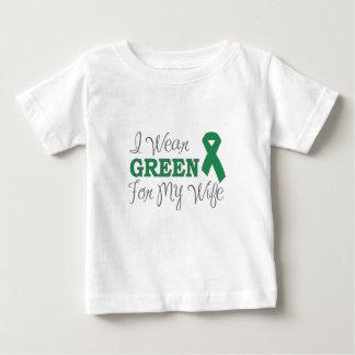 Ich trage Grün für meine Ehefrau (grünes Baby T-shirt