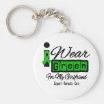 Ich trage grüne das Band-(Retro) - Freundin Schlüsselband