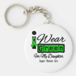 Ich trage grüne das Band-(Retro) - Tochter Schlüsselanhänger