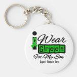 Ich trage grünen das Band-(Retro) - Sohn Schlüsselbänder