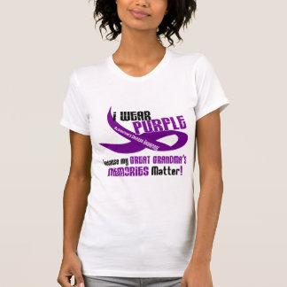 Ich trage Lila für die Erinnerungen 33 meiner T-Shirt