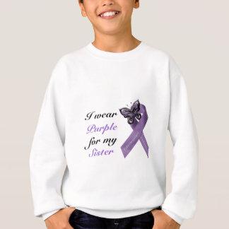 Ich trage Lila für mein…. Sweatshirt