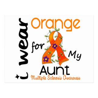 Ich trage multiple Sklerose der Orangen-43 Postkarte