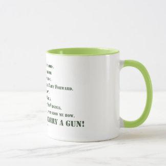 Ich trage nicht ein Gewehr Tasse