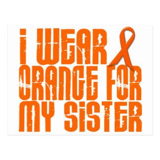 Ich trage Orange für meine Schwester 16 Postkarte