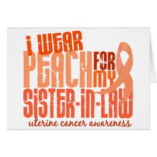 Ich trage Pfirsich für uterinen Krebs der Karte