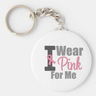 Ich trage rosa Band für mich Schlüsselbänder