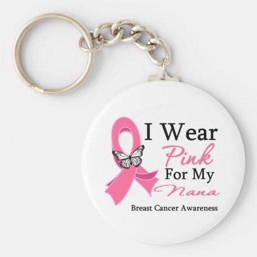 Ich trage rosa Band-Nana-Brustkrebs Schlüsselband
